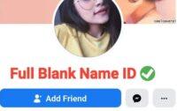 Blank Name FB ID