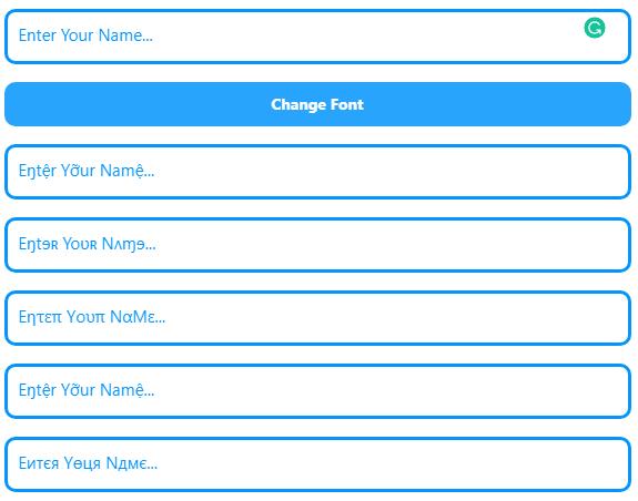 Font Changer Online, Facebook Font Changer